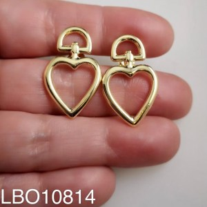 Aros bañado en oro Corazón de 28mm LBO10814