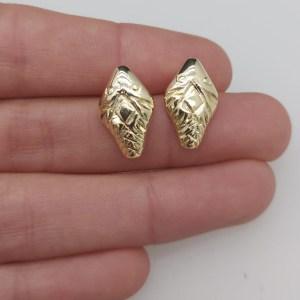 Aros bañado en oro de 17mm Cabeza de Serpiente LBO10954