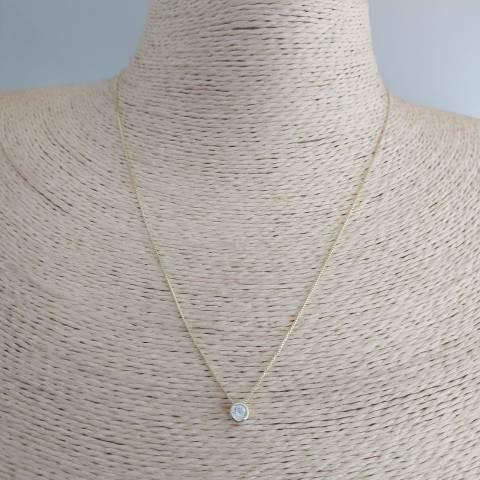 Collar bañado en oro de 46cm Veneciana Punto de luz con alargue de 3cm LBO30963