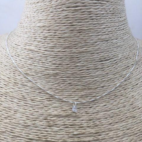 Collar bañado en plata de 41cm Alargue 5cm Veneciana Punto de luz LBO31140