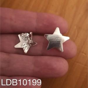 Base de aros bañado en plata de 0mm Estrella Argolla LDB10199
