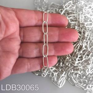 Cadena bañada en plata de 14x6mm 100cm LDB30065