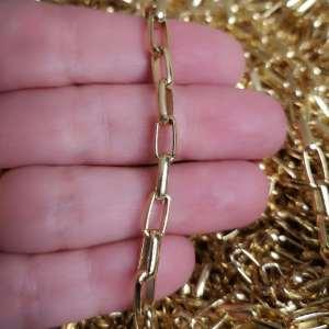 Cadena bañada en oro de 18k Eslabón 10x5mm 1 metro LDB30115