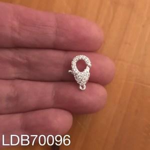 Broche bañado en plata de 0mm Mosquetón Piedras LDB70096
