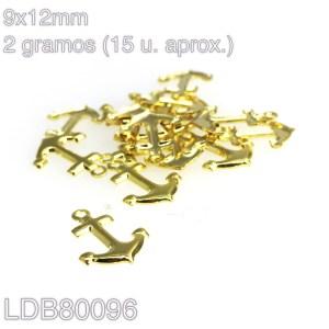 Dije ancla bañado en oro de 9x12mm 2gr 15u aprox