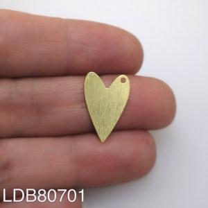 Dije bañado en oro de 18mm Corazón LDB80701