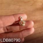 Dije bañado en oro de 15mm Corona LDB80790