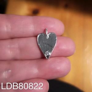 Dije bañado en plata de 22mm Corazón circón LDB80822