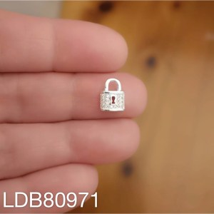 Dije bañado en plata de 10x7mm Candado LDB80971