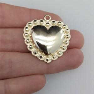 Dije bañado en oro de 29x30mm Corazón LDB81355
