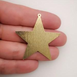 Dije bañado en oro de 40mm Estrella LDB81597