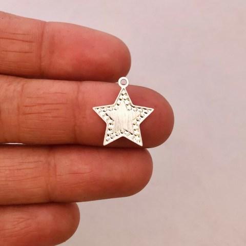 Dije bañado en plata de 16mm Estrella LDB81882