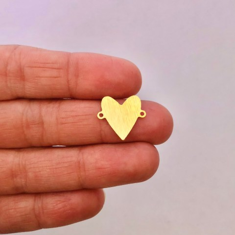 Dije bañado en oro 22k de 20mm Corazón LDB81901