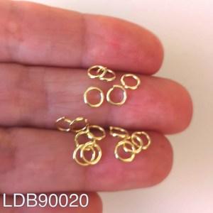 Argollas bañadas en oro de 5mm 1gr