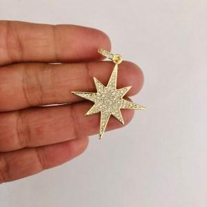 Dije bañado en oro 18k de 40mm Estrella Fugaz Circones LDB82273