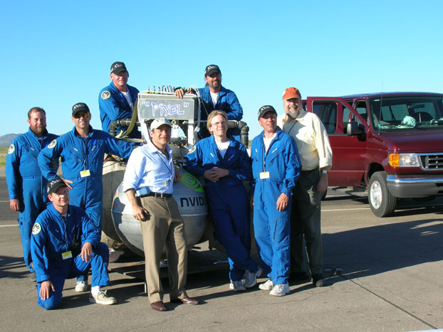 Armadillo Lunar Lander Challenge team and X Prize leaders