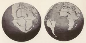 The first maps of continental drift
