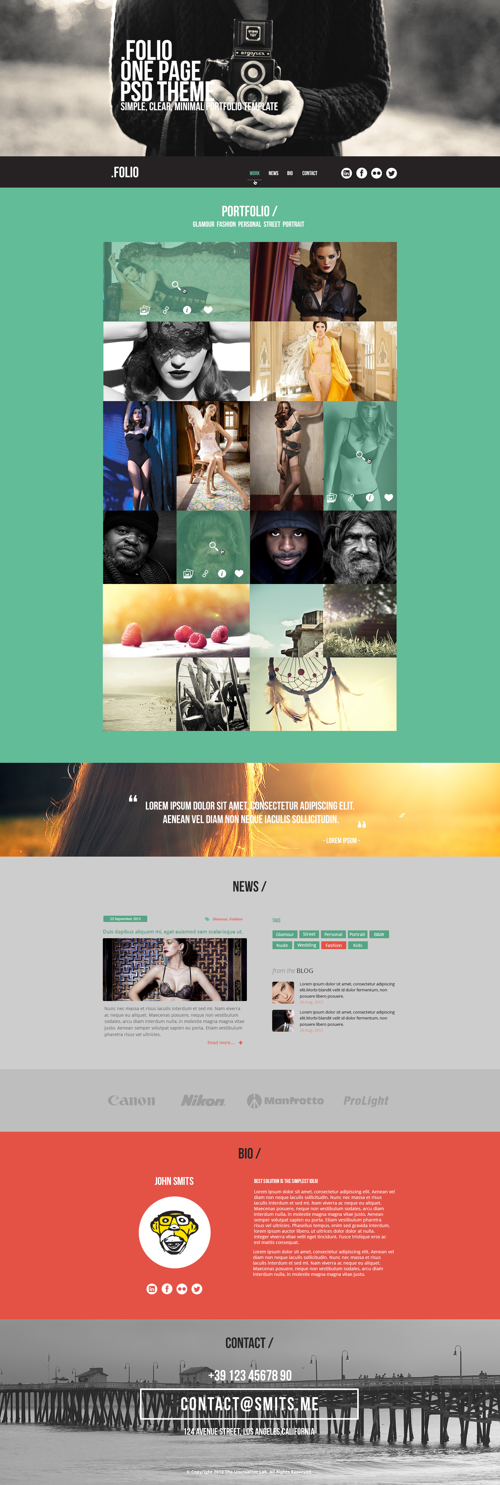 folio html5 template lunartheme wordpress theme free html