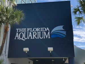 Florida Aqarium view of sign