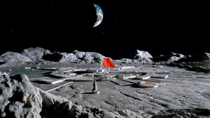 China Moon Base (Illustration)