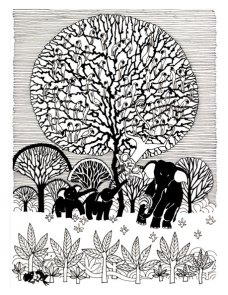 Aditi Raychoudhury. Tree of Life. Pen and Ink. 1998.