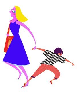 Aditi Raychoudhury. Exiting Mamma with Runaway Son. 2013. Adobe Illustrator.