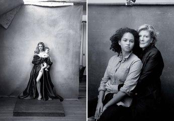 Natalia Vodianova y la presidenta del MoMA y su nieta