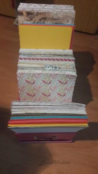 Scrapbook-Paper Aufbewahrung