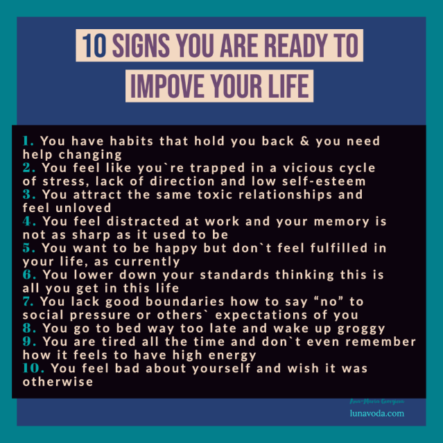 10 signs you are ready to improve your life