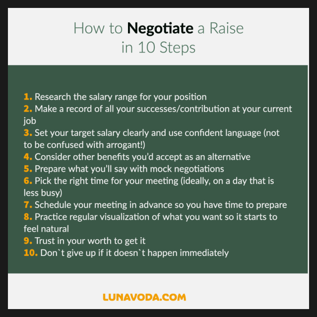 10 ways to negotiate a raise