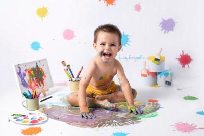 Smash Paint. sesión de fotografias divertidas y creativas para tu hij@ en Madrid