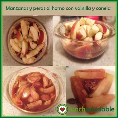 manzanas y peras al horno