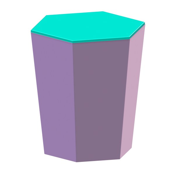 Skittle Lidded Candle Lilac and Turquoise - 7108