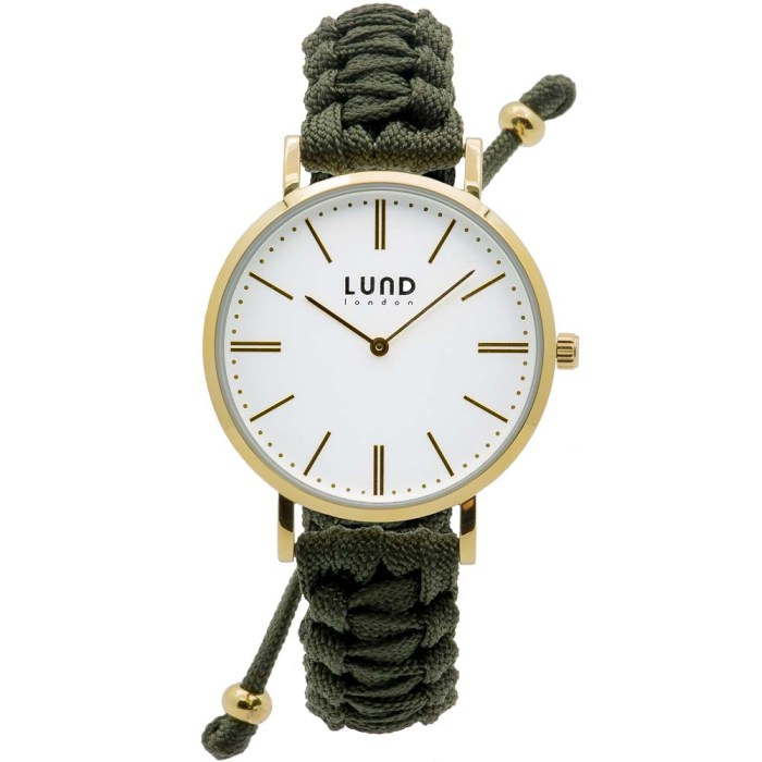 Army Green Braided Watch with Gold Clasp - 39mm
