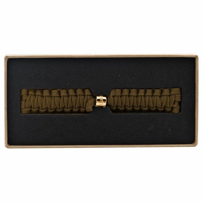 Hazelnut Braided Strap with Gold Clasp - 9145