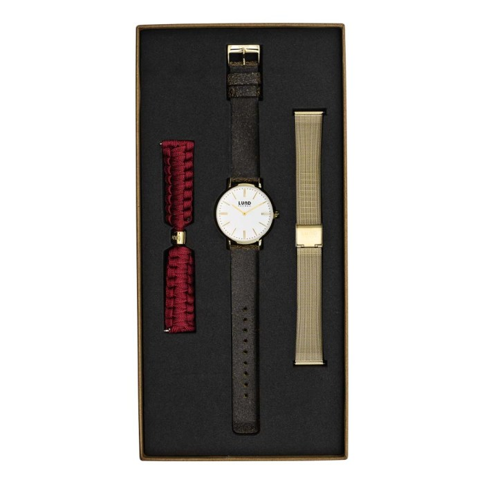 Set No 7 - Black and Gold Tonal Watch Set