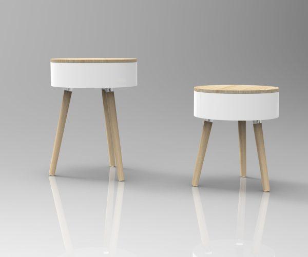 White Skittle Table and Jumbo