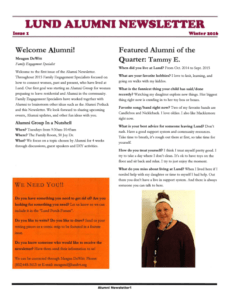 Alumni Newsletter Family Engagement Recovery Parenting