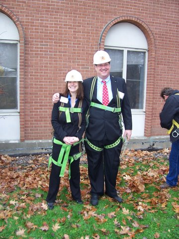 Jeff with Barbara during the 2006 renovation work on Lund's Glen Road residential treatment facility.