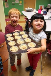 Picking apples, making muffins and building community