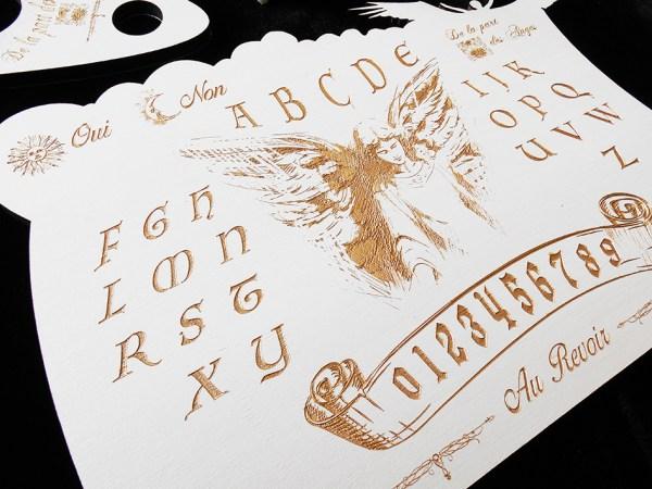 Ouija Ange spiritisme bois