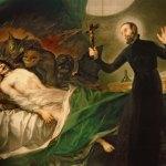 Peinture de séance d'exorcisme