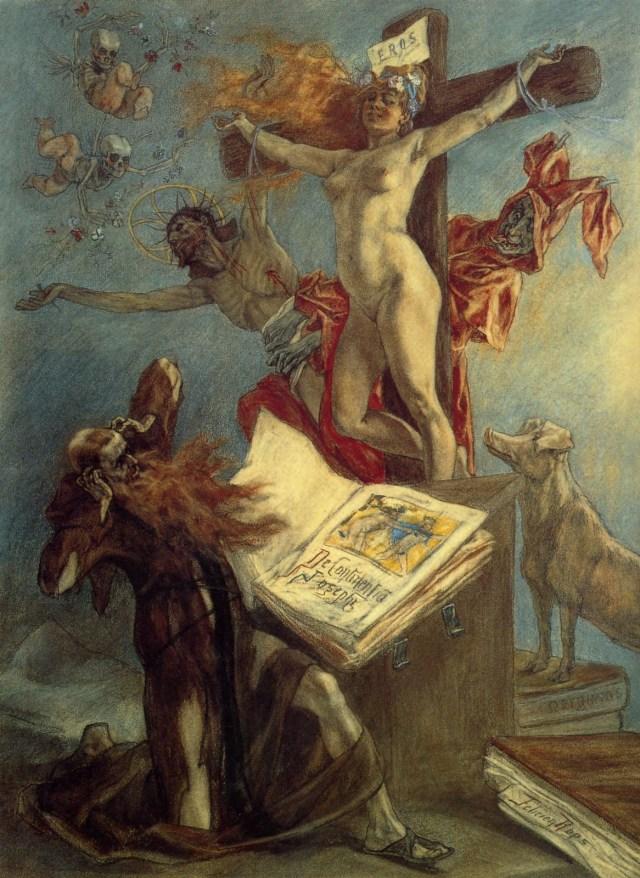 Peinture de Maître, jésus et les démons