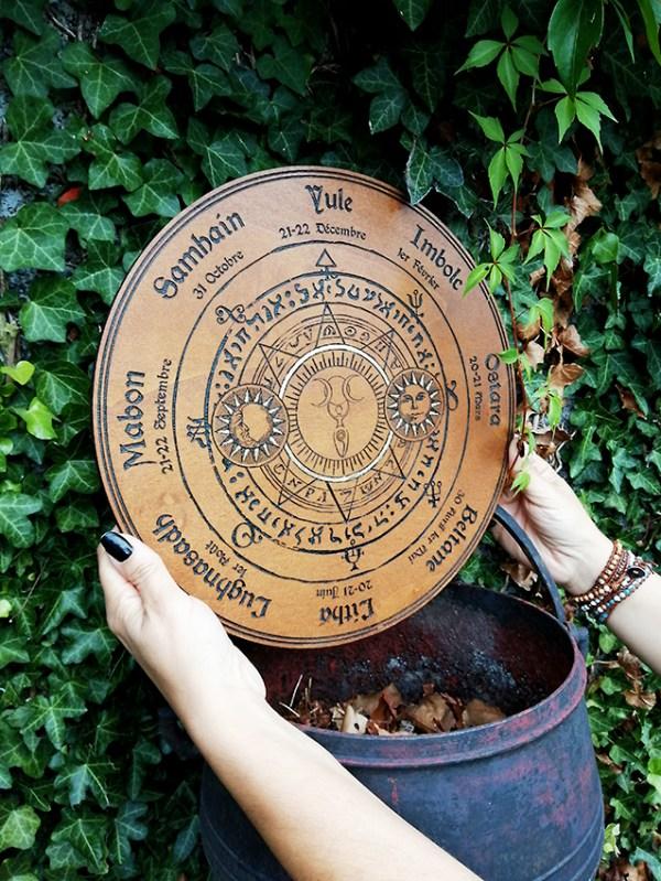 Roue pour la wicca bois