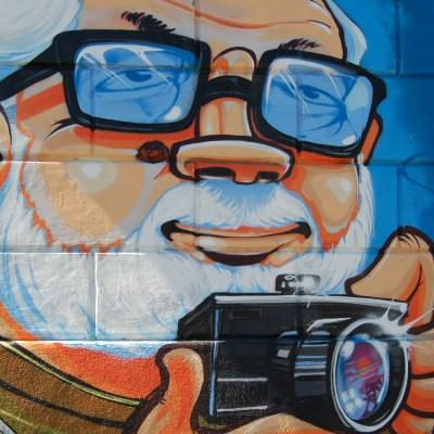 street art christos barbalis lunettes