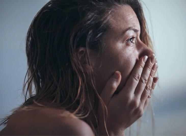 kvinna med ångest