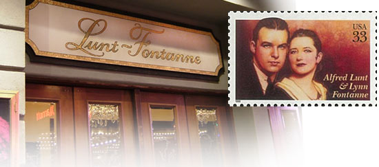 Lunt-Fontanne Theater and US Postal stamp