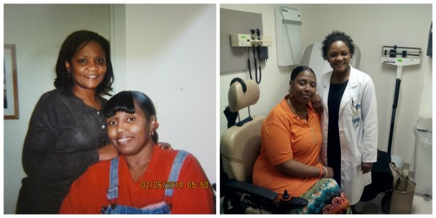 """Title: A Special Bond Between Me and My Rheumatologist. Caption: (Left: photo of a photo taken in 2011. Right: taken in 2014) Having a rheumatological illness like lupus can cause fatigue, pain, and loss of mobility. It can also be hard to predict how you feel on any given day. This can cause major changes in your emotional, social, and physical well-being. If you have lupus, it's important to have a great relationship with a rheumatologist. A rheumatologist plays a significant role in our physical and mental health. A rheumatologist's job is to treat people with conditions like arthritis, certain autoimmune diseases, and musculoskeletal disorders. Lupus is an autoimmune disease. A rheumatologist decides on the best diagnosis and recommends the right kind of treatment for their patients. They also evaluate the signs and symptoms of systemic involvement and joint disorders. A person living with lupus needs to be seen frequently by a rheumatologist – usually once every three months. My rheumatologist, Dr. Mona Pervil-Ulysse, has been treating me for lupus for 17 long years. She acts as a health manager in which she provides the best care for my physical and mental health. Dr. Pervil provides that same """"supernatural"""" care for all of her patients at two different hospitals, as well as her private office. As a result of her professionalism and knowledge of rheumatology, my health went from being critical to exuberant! Dr. Mona Pervil-Ulysse goes above and beyond her call of duty to make sure her patients have the best possible quality of life. Whenever I meet someone newly diagnosed with lupus, I proudly recommend my rheumatologist to them. Photographer: S.C."""