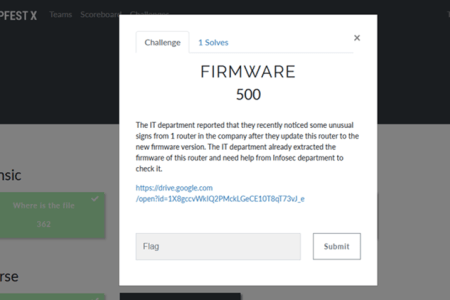 Writeup CTF Compfest X : Firmware