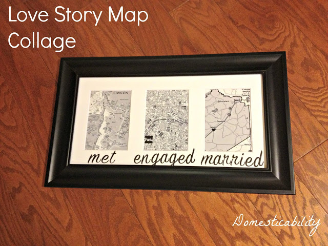 Love Map Tutorial Where to Buy Supplies Met Engaged Married Map Collage